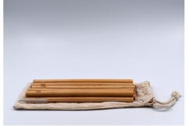 HUT set de 12 pailles en bambou